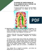 Rosario en Honor de Santa Maria de Guadalupe