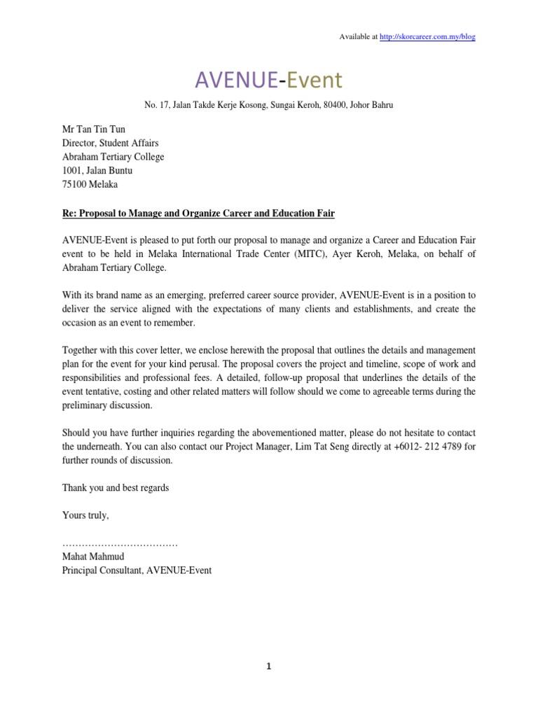 Sample of Proposal Plan Event | Press Release | Logistics