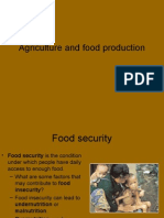 Agriculture and Food Production