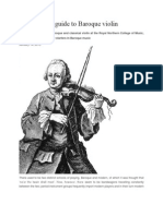 A Beginner`s Guide to Baroque Violin Playing