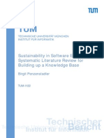 Sustainability in Software Engineering. a Systematic Literature Review for Building Up a Knowledge Base