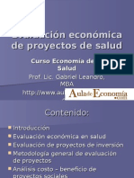 Evaluación Económica de Proyectos de Salud