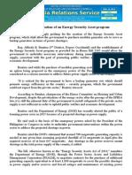 jan25.2015Solon seeks creation of an Energy Security Asset program