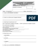 Examen Mensual de Geografia 5to b