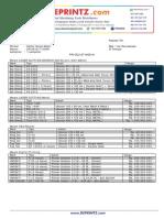 Daftar Harga Mesin 01 Januari 2015