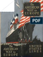 United States Lines American Way to Europe 1923