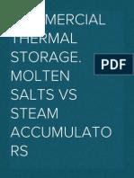 SolarPACES 2012 – Commercial thermal storage. Molten salts vs Steam accumulators