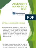 Elaboración y Redacción Del Informe de Tesis