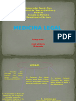 Láminas Power Point - Medicina Legal - Temas 3-4-5 y 7 Dulcemar Jose Vicente