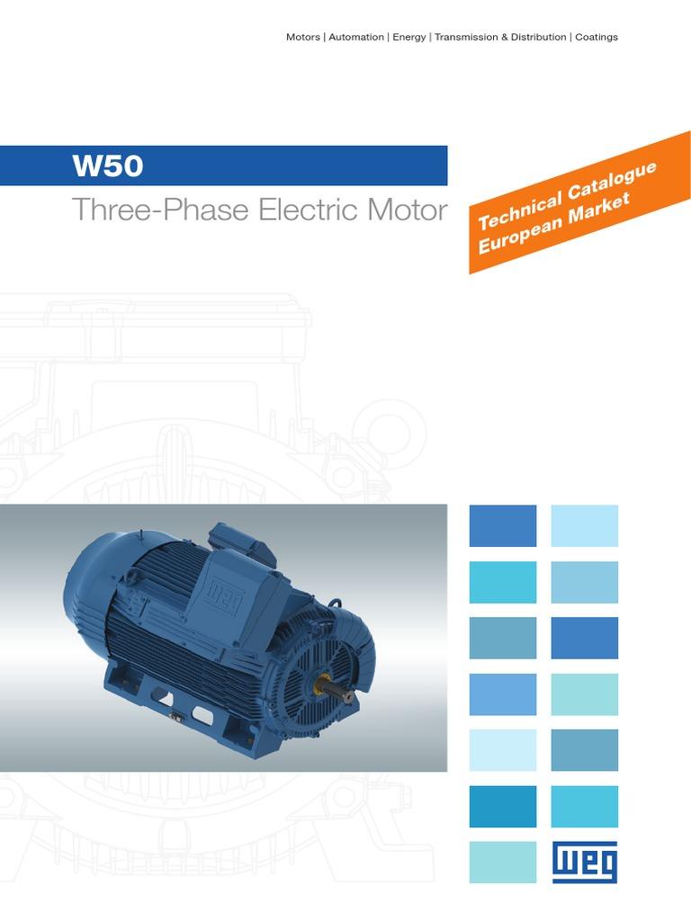 Weg w50 Three Phase Electric Motor Technical Catalogue European ...