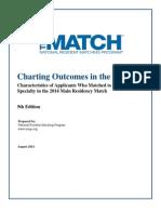 Charting Outcomes 2014 Final USMLE