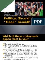 POS 100 1S 2014 - Section 1 - Defining Politics