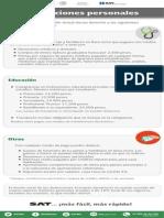 Deducciones Personales - Infografía