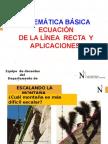 Ecuación de La Recta_Aplicaciones_MB Ing. 2014 II