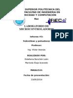 PRÁCTICA 3 Microcontroladores