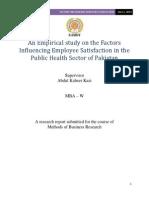Method of Business Report sample