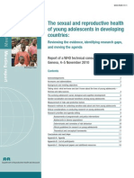 The Sexual and Reproductive Health of Young Adolescents Who 2011