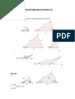 Taller de Semejanza de Triangulos
