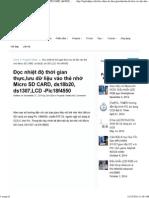 Đọc Nhiệt Độ Thời Gian Thực,Giao Tiếp Thẻ Nhớ Micro SD CARD, Ds18b20, Ds1307