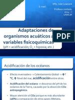 Adaptaciones de organismos acuáticos a variables físicoquímicas