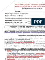 Fases y Requisitos Visado de Estudios