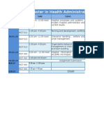 batch 03 time table