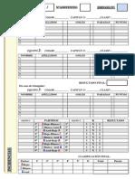 Ficha control de partidos de fútbol sala