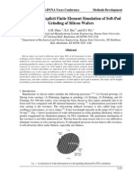 Implicit and Explicit FE Simulation of Soft-pad Griding of Silicon Wafer