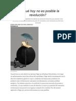 Articulo. Por Qué Hoy No Es Posible La Revolución