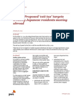Pwc Japan Proposes Exit Tax Targets Residents Moving Abroad
