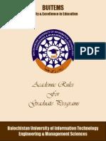 Graduate Academic Rules