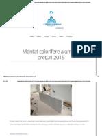 Montat Calorifere Aluminiu Preţuri 2015 _ Amenajari Apartamente