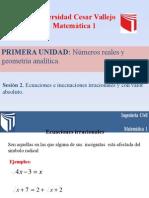 PPTsesion_02_Ecuaciones e Inecuaciones Irracionales y Con Valor Absoluto