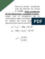 Problema de Newton No Lineal
