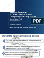 TELECON-A Close Look at Cloud Computing Security Issues