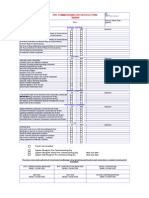 Pre-Commissioning Dry Access Form