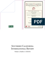Southern California International Review Fall 2014 Publication
