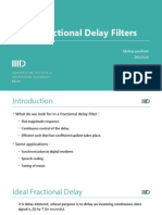 Fractional Delay Filters Presentation