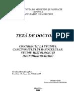 Contributii La Studiu Carcinomului Bazocelular_studiu Histologic Si Imunohistochimic