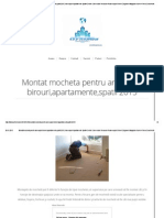 Montat Mocheta Pentru Amenajari Birouri,Apartamente,Spatii 2015