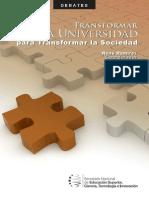 Transformar La Universidad Para Transformar La Sociedad