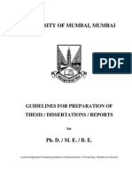 Guidelines Thesis Dissertaion Report-Mumbai University