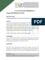 Dela Putri Lestari Cara Membuat DataBase Sederhana Dengan Microsoft Excel