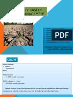 Community Based Disaster Management