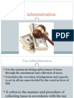 Lesson 4. Tax Administration.