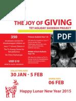 shoebox project for ais students 2014-15