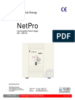UPS - Netpro Operation Manual 0k6 1k5 Va