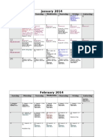 Calander plan 2014 project  = labor hours