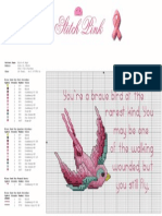 Stitch Pink Bird of Hope Project Sheet