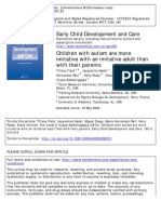 Children With Autism Are More Imitative With an Imitative Adult Than With Their Parents